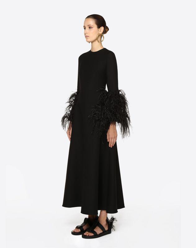 Abito ricamato in Crepe Couture
