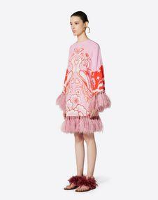 Phoenix Embellished Crepe de Chine Dress