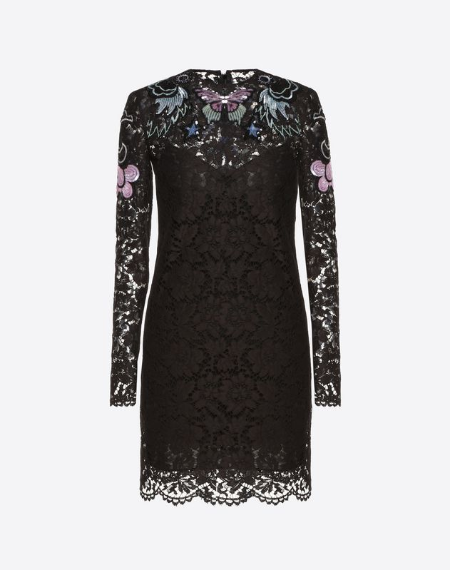 Embellished Heavy Lace Dress
