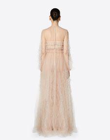 Embellished Tulle Evening Dress