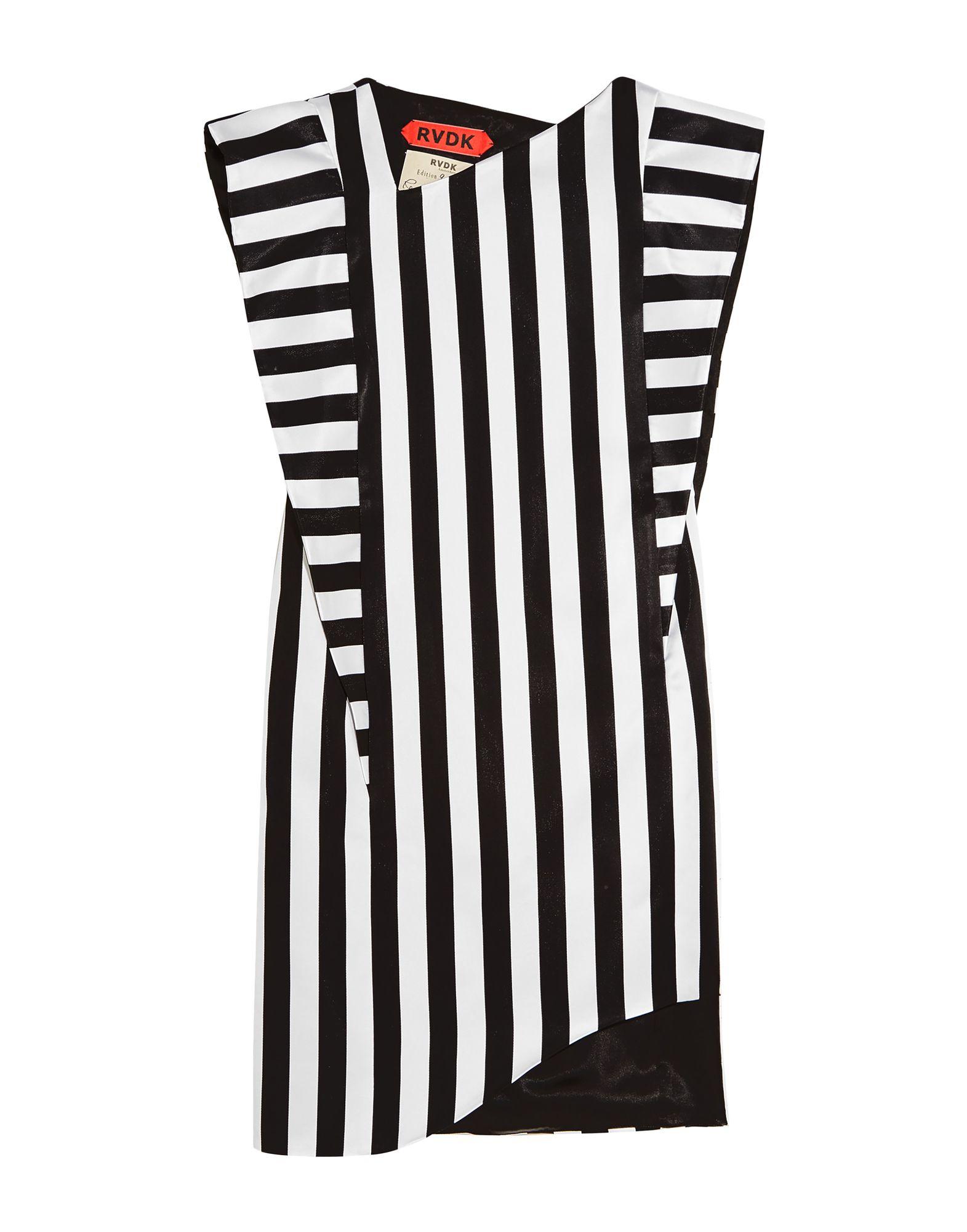 《セール開催中》RONALD VAN DER KEMP レディース ミニワンピース&ドレス ブラック 34 アセテート 100%