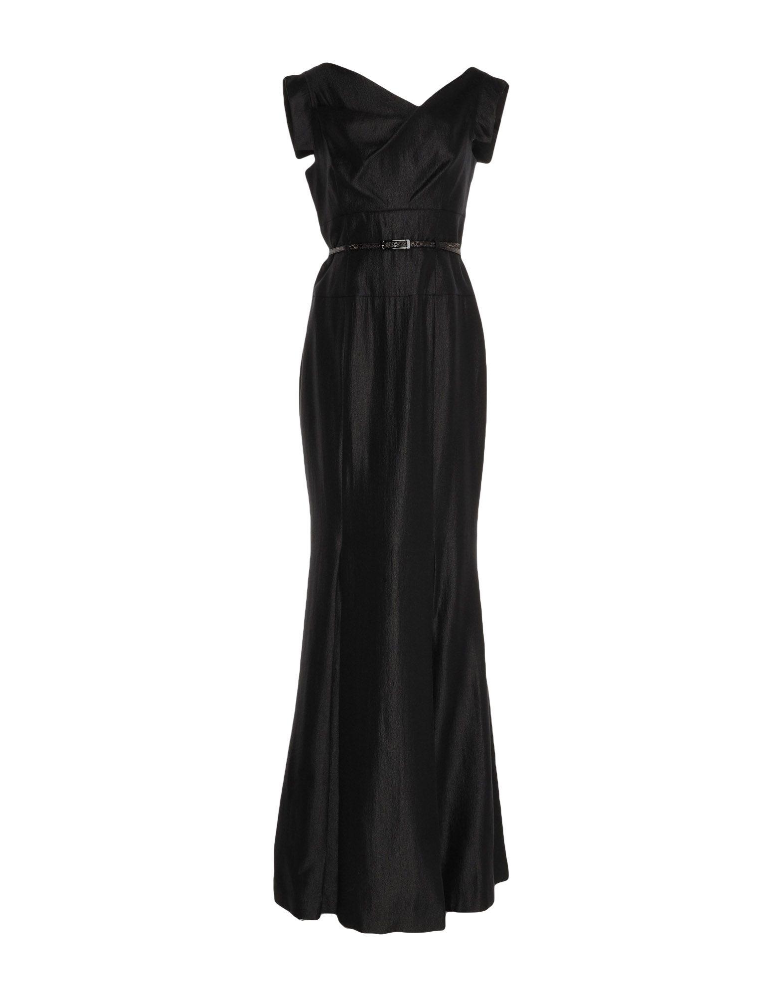 《セール開催中》BLACK HALO EVE by LAUREL BERMAN レディース ロングワンピース&ドレス ブラック 0 レーヨン 70% / ナイロン 19% / ナイロン 11%