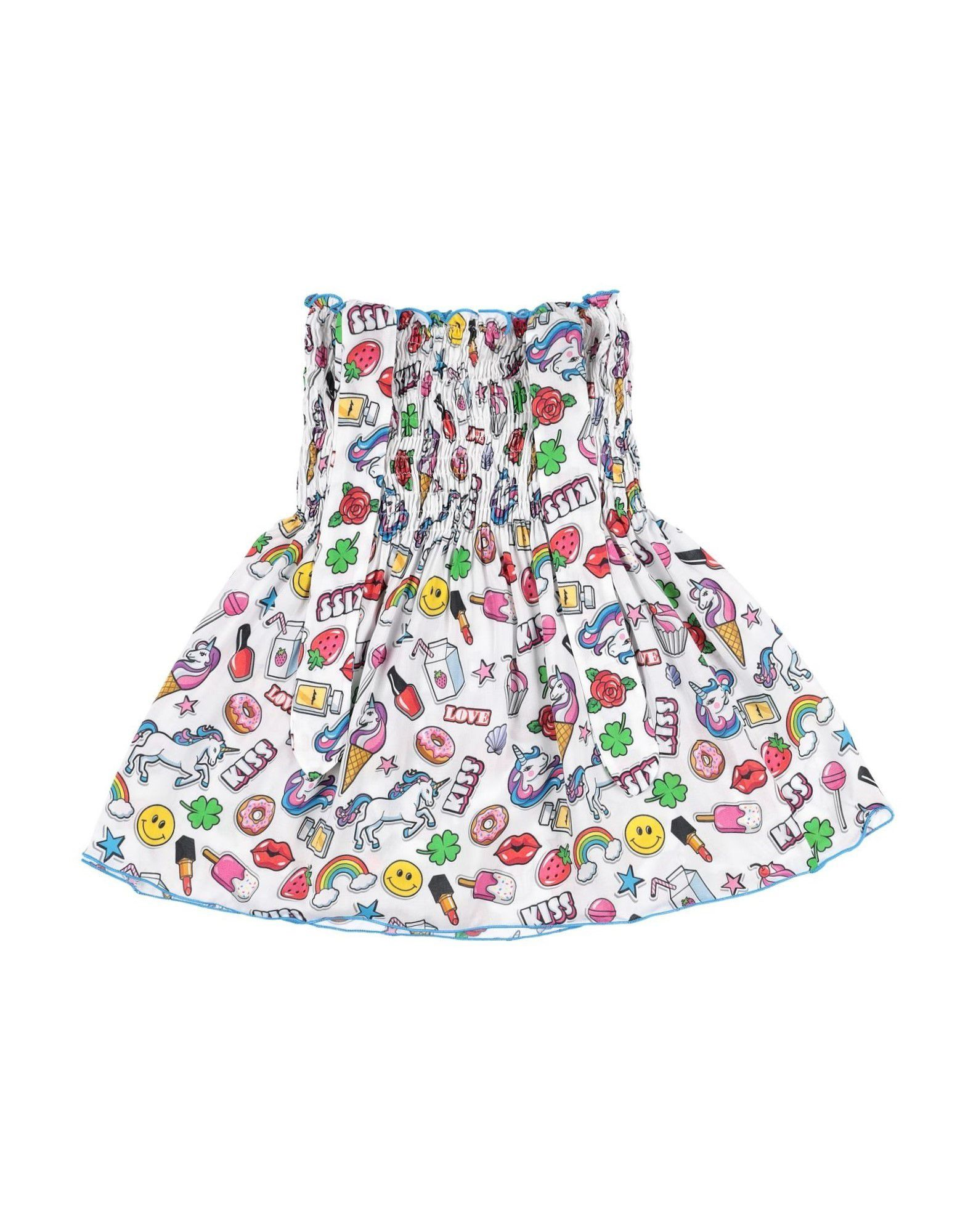 MC2 SAINT BARTH Dresses. plain weave, bow-detailed, frills, cartoon print, deep neckline, sleeveless, no pockets, no fastening, unlined, wash at 40degree c, dry cleanable, iron at 110degree c max, do not bleach, do not tumble dry. 100% Viscose
