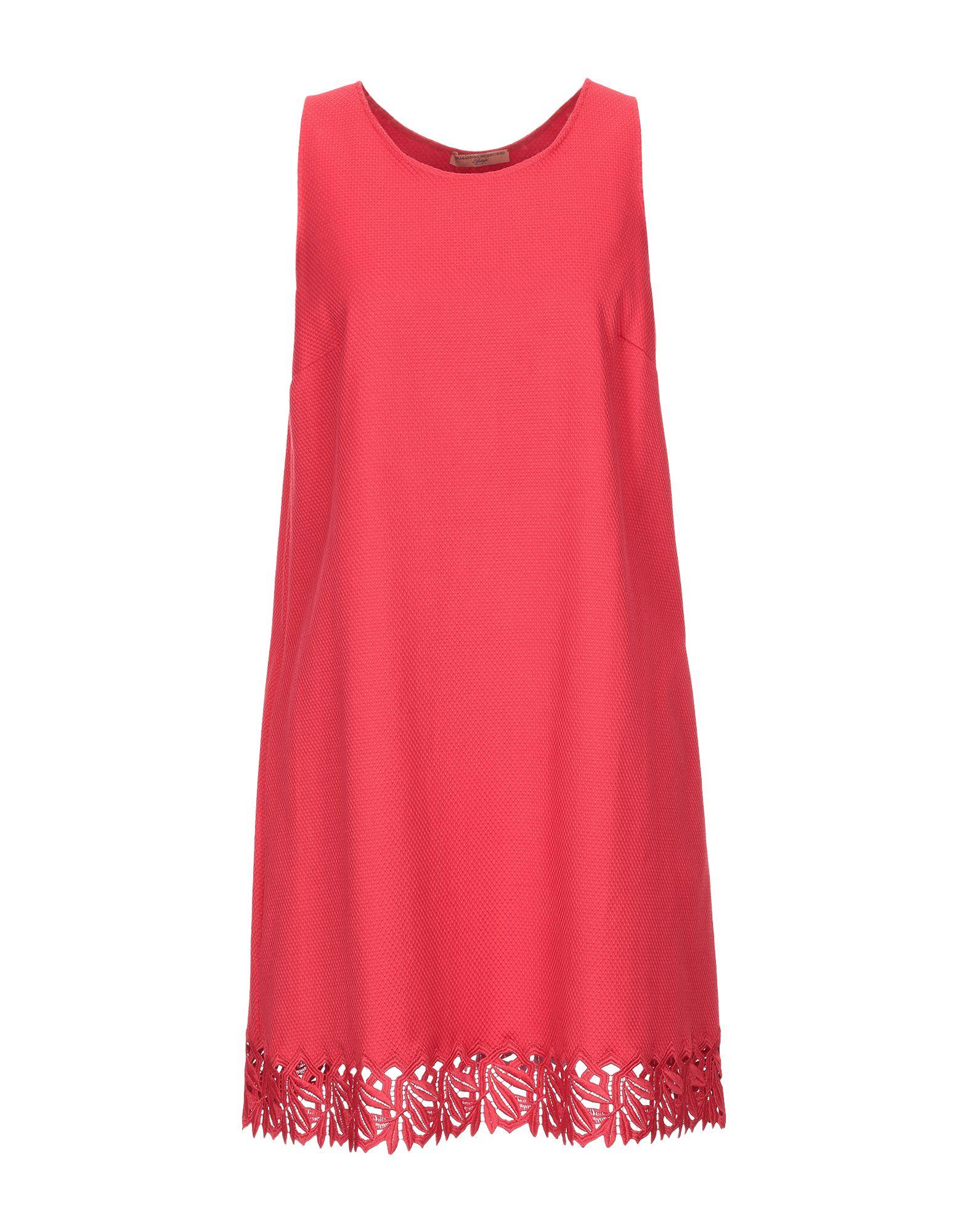ERMANNO SCERVINO Короткое платье платье без рукавов с кружевной вставкой на спинке