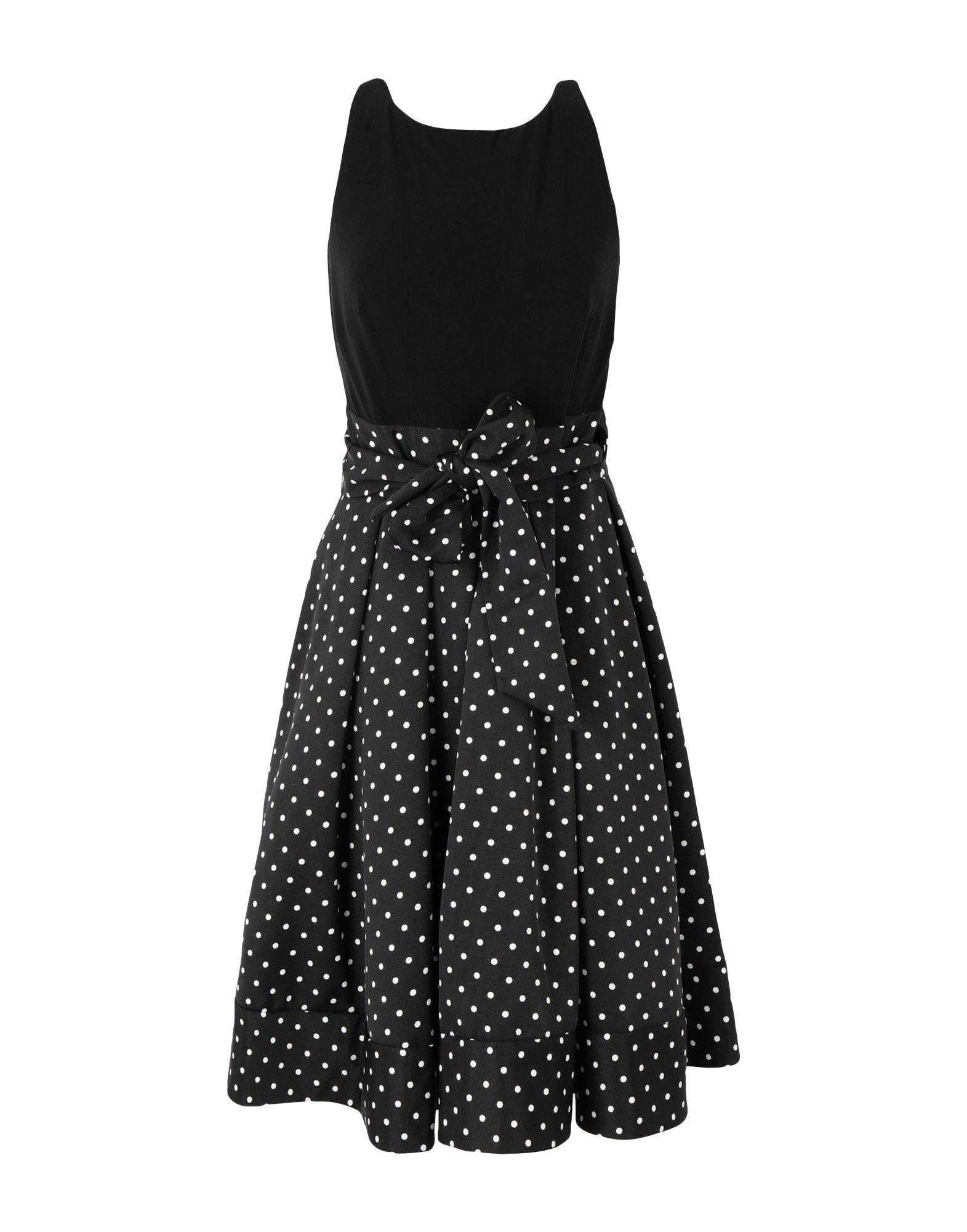 《送料無料》LAUREN RALPH LAUREN レディース ひざ丈ワンピース ブラック 2 ポリエステル 100% Polka Dot Fit and Flare Dress