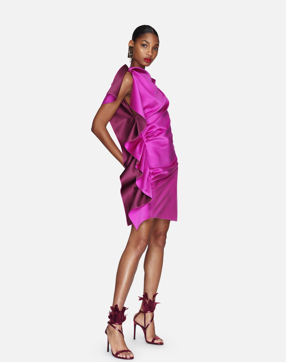 TWO-TONED HOT PINK DRESS - Lanvin