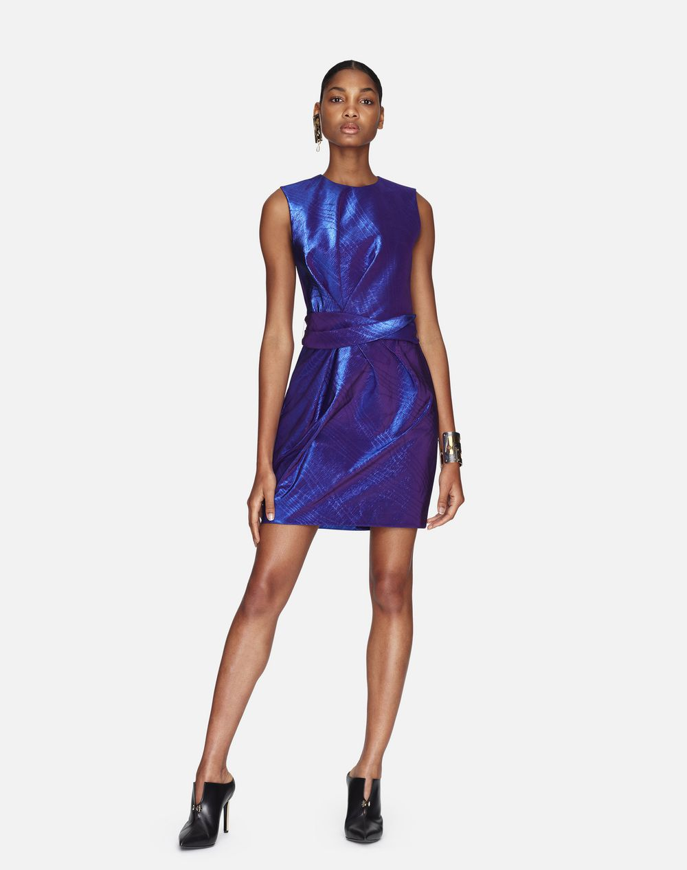 IRIDESCENT AMETHYST FAILLE DRESS - Lanvin