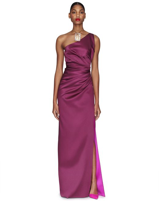 LONG PURPLE SLIT DRESS - Lanvin