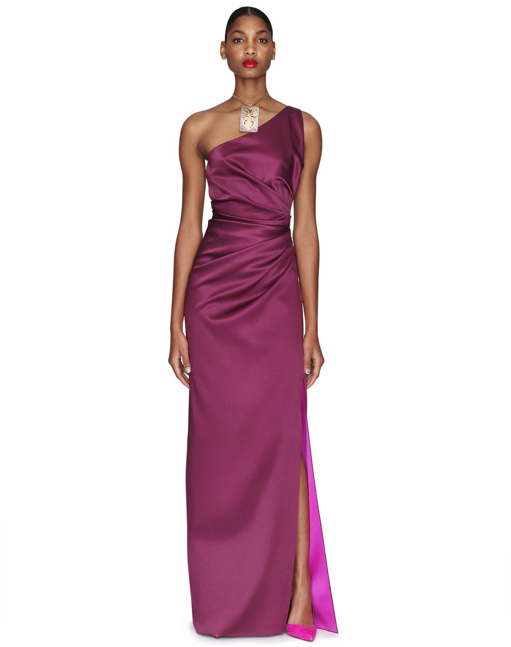 0cbae7cee2d83 Lanvin LONG PURPLE SLIT DRESS, Long Dress Women | Lanvin Online Store