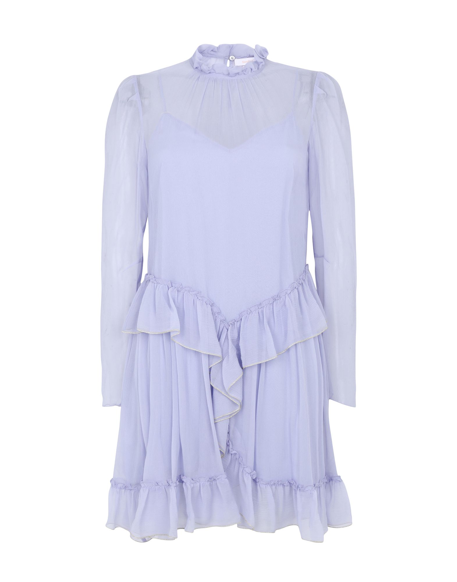 SEE BY CHLOÉ Короткое платье braless see through backless babydoll