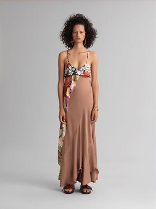 Kleid mit Halstuch-Details