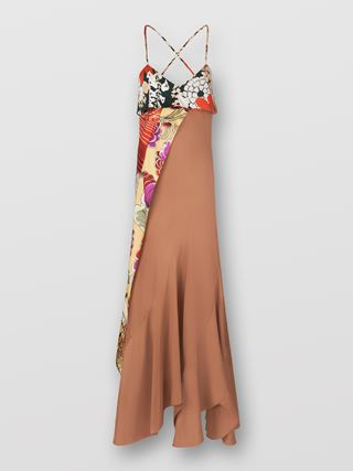 Scarf-detail dress