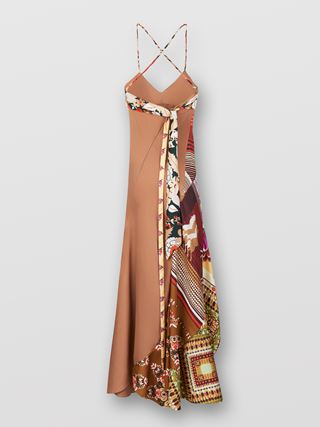 Scarf-detail dress