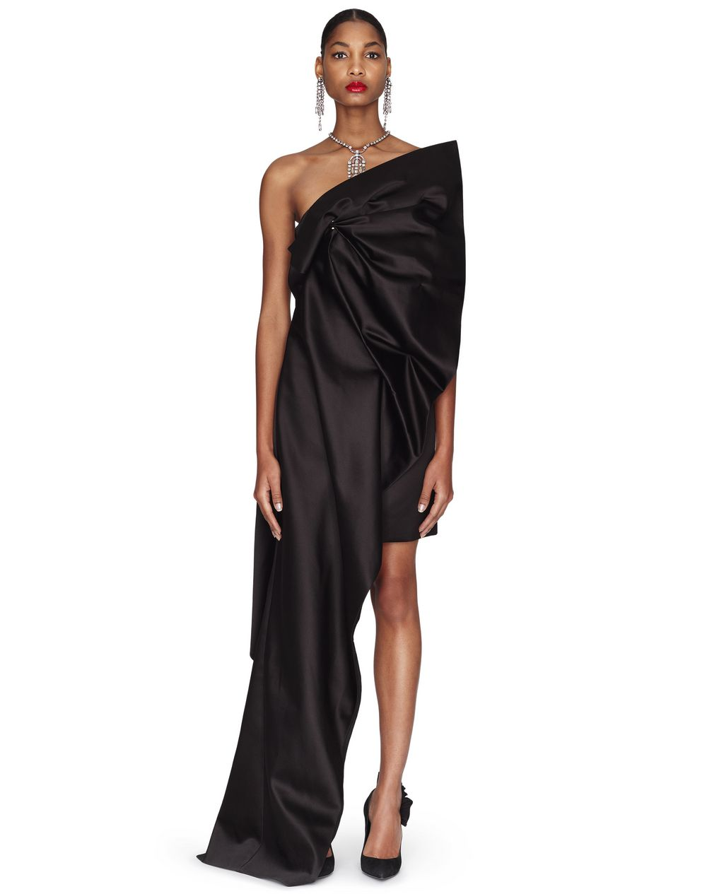 LONG SATIN DUCHESS DRESS - Lanvin