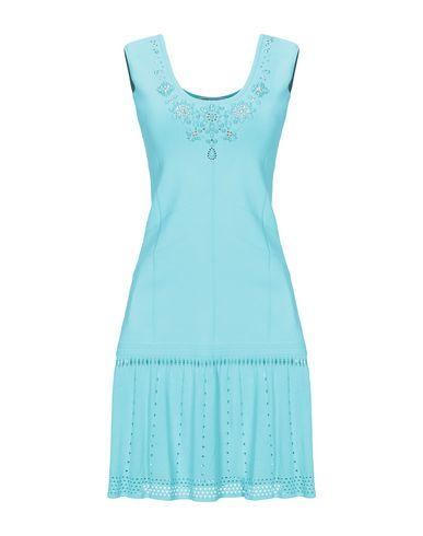 Купить Женское короткое платье VDP BEACH бирюзового цвета