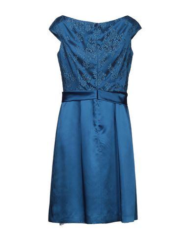 Фото 2 - Женское короткое платье BOTONDI MILANO синего цвета