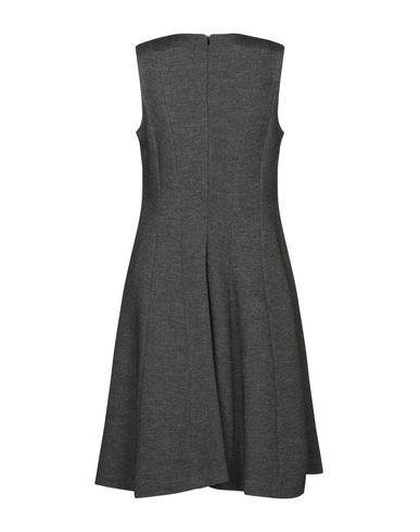 Фото 2 - Платье до колена от BLUKEY свинцово-серого цвета