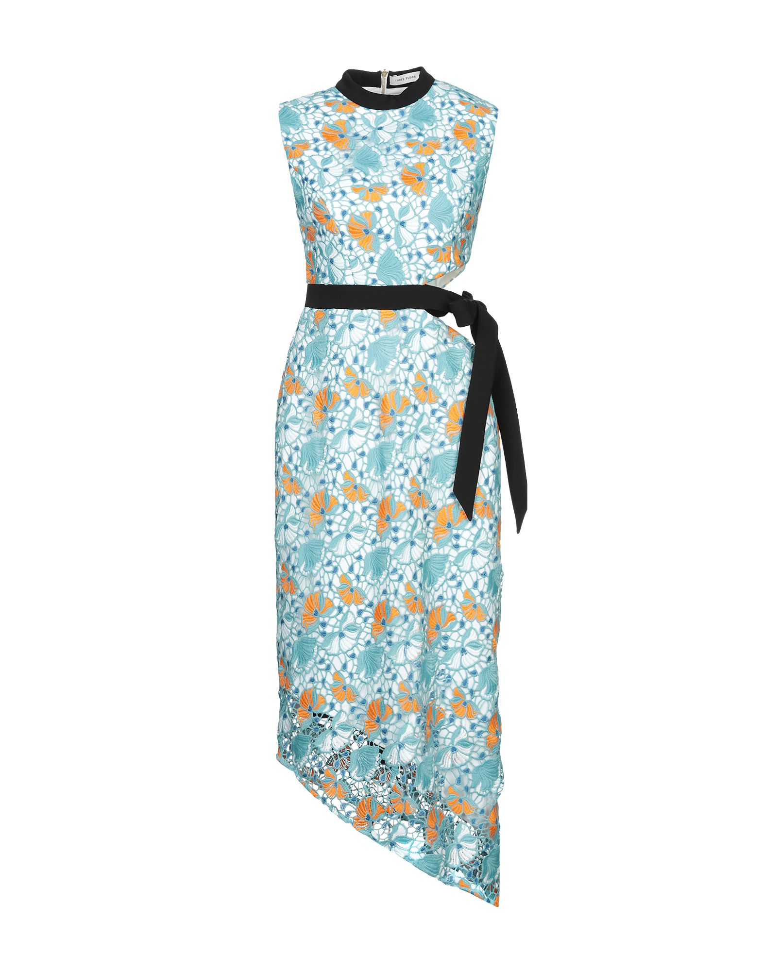 THREE FLOOR Платье длиной 3/4 three dots платье без рукавов