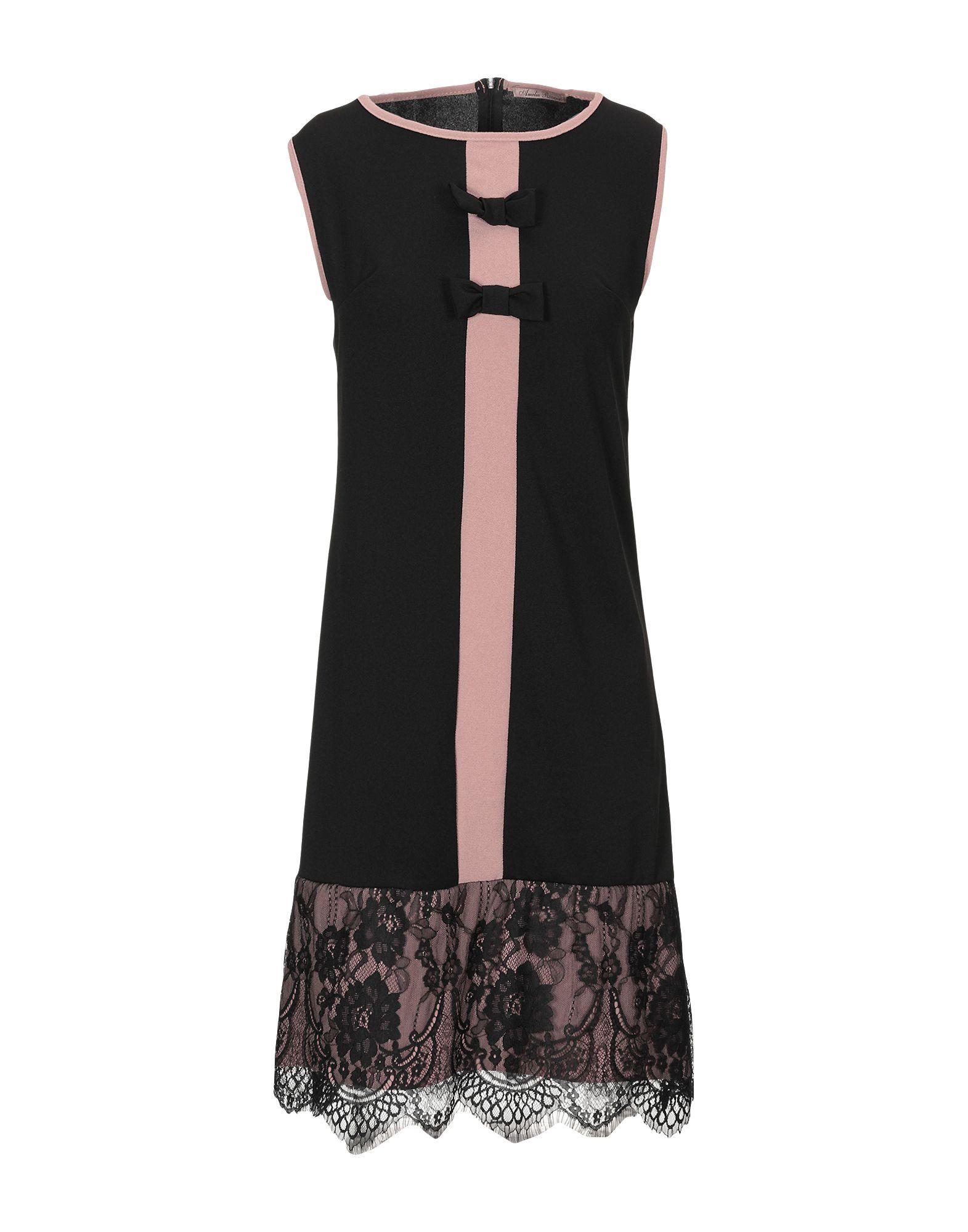 AMELIE RÊVEUR Короткое платье платье без рукавов с кружевной вставкой на спинке