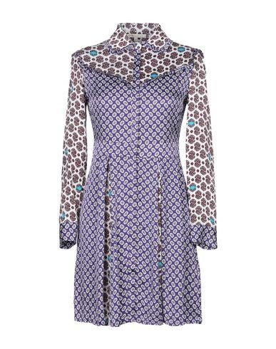 Купить Женское короткое платье  фиолетового цвета