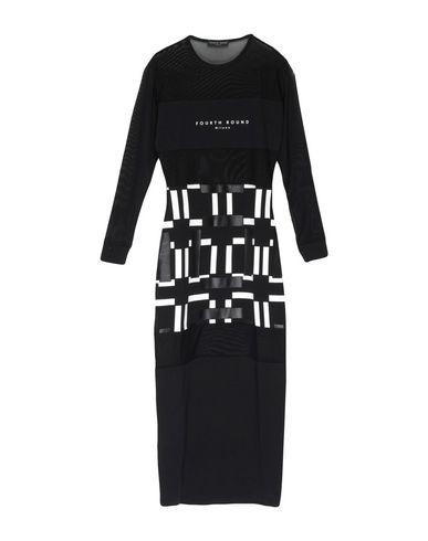 Фото - Женское длинное платье FOURTH ROUND Milano черного цвета