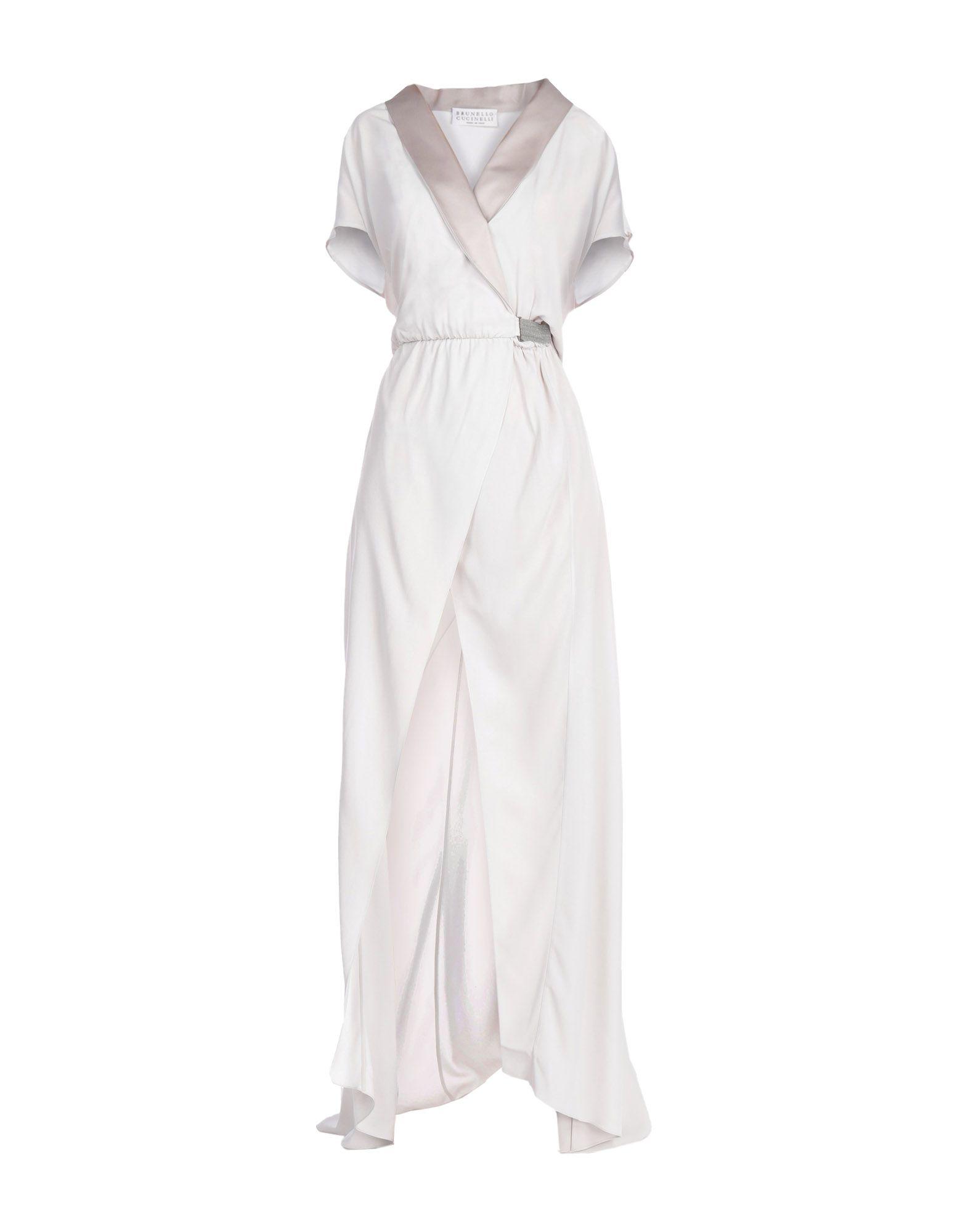 цена BRUNELLO CUCINELLI Длинное платье онлайн в 2017 году