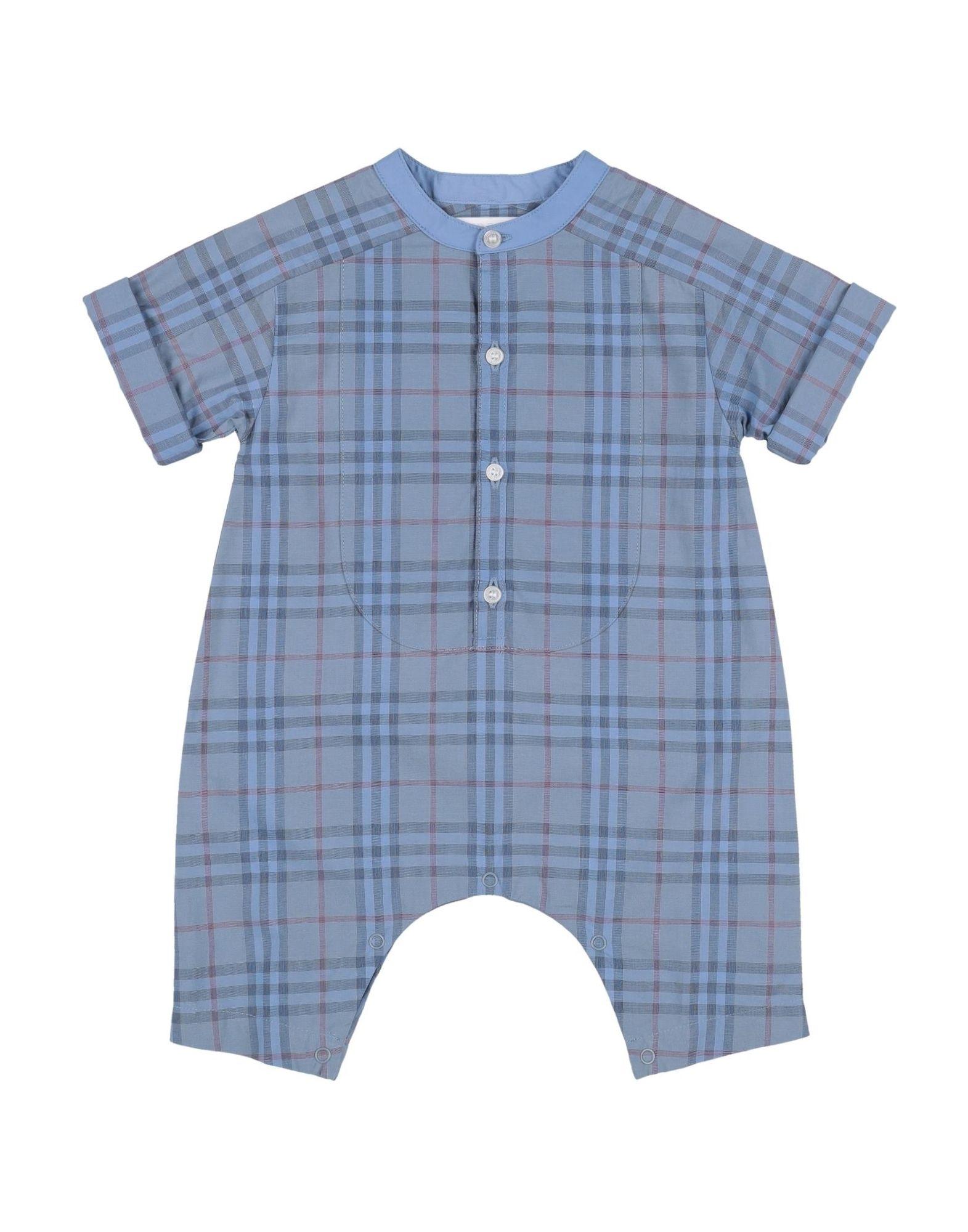 YOOX.COM(ユークス)《セール開催中》BURBERRY ボーイズ 0-24 ヶ月 乳幼児用ロンパース アジュールブルー 12 コットン 100%