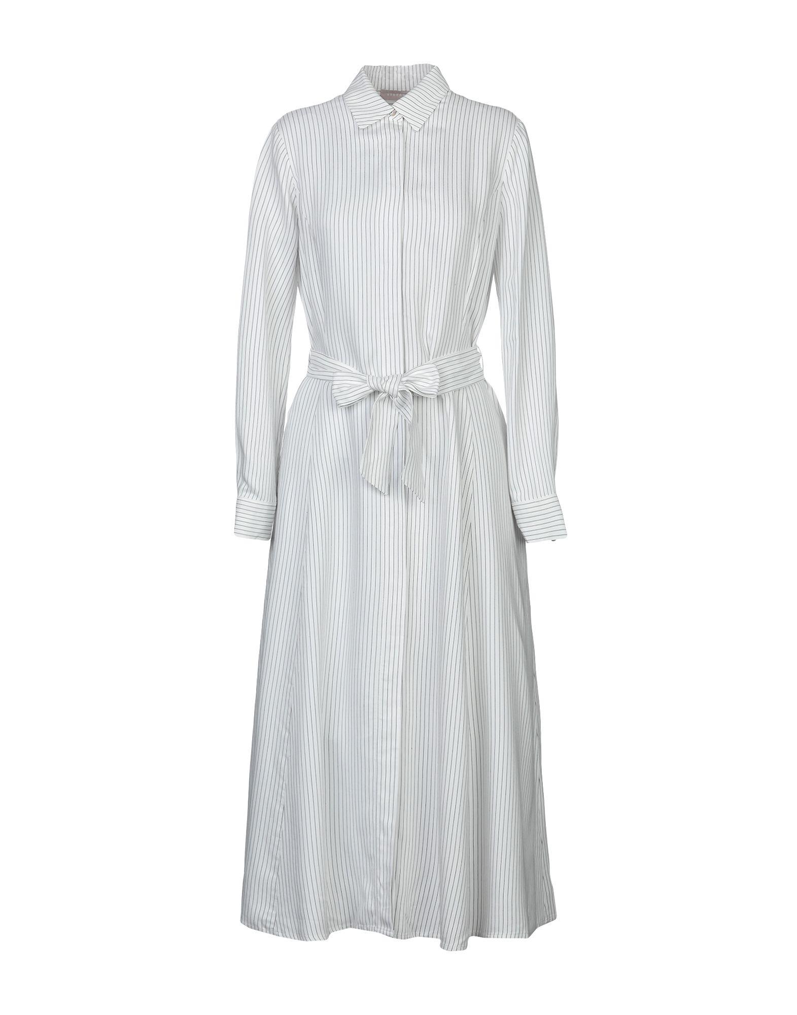 STEFANEL Длинное платье scalloped a line cocktail dress