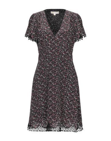 Купить Женское короткое платье  темно-коричневого цвета