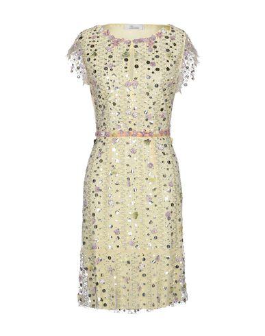 Фото - Платье до колена от ANNA MOLINARI BLUMARINE желтого цвета
