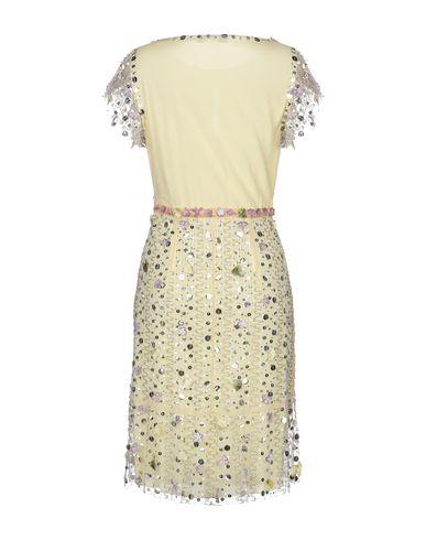 Фото 2 - Платье до колена от ANNA MOLINARI BLUMARINE желтого цвета