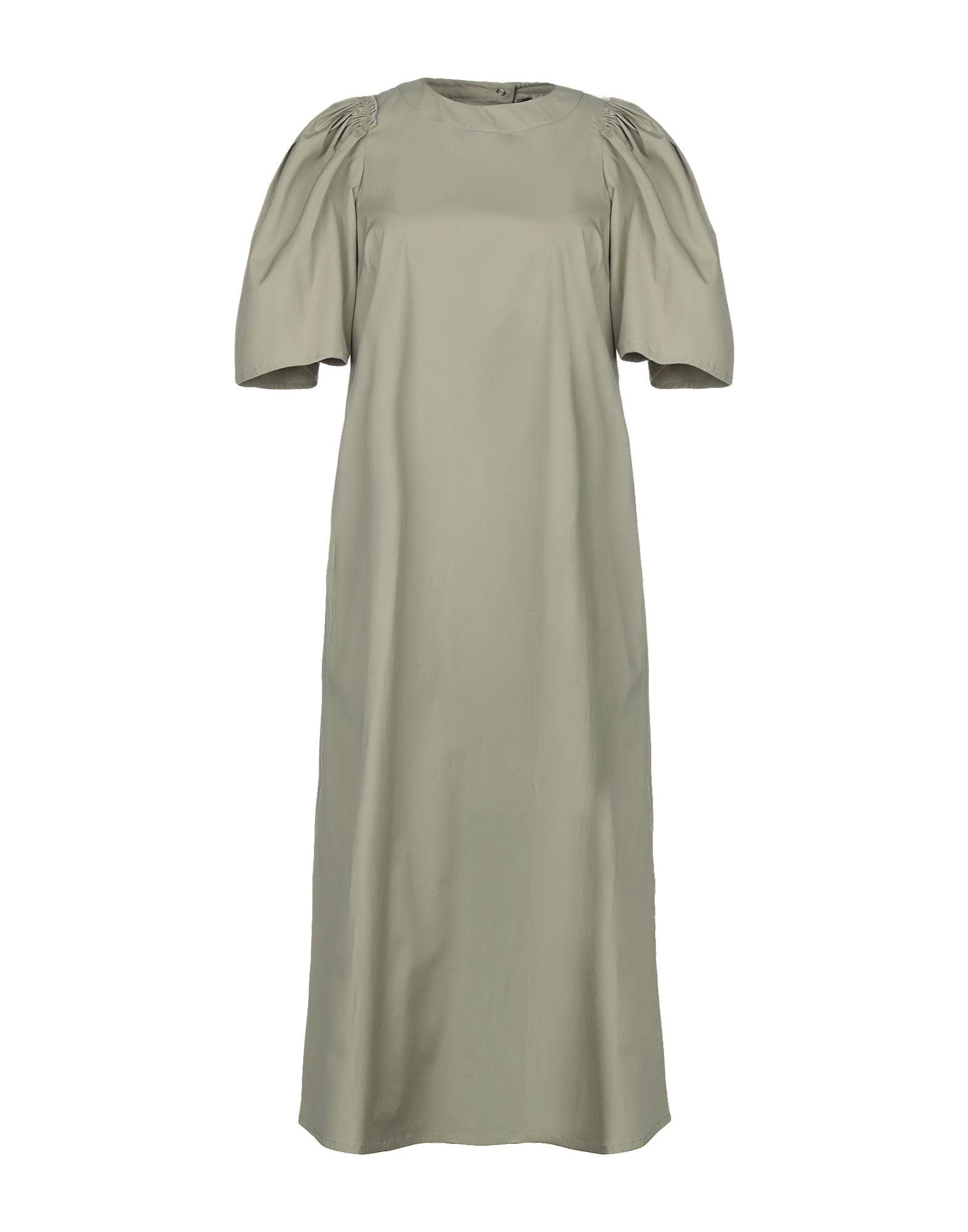 《セール開催中》TWINSET レディース 7分丈ワンピース・ドレス ミリタリーグリーン 46 コットン 97% / ポリウレタン 3%