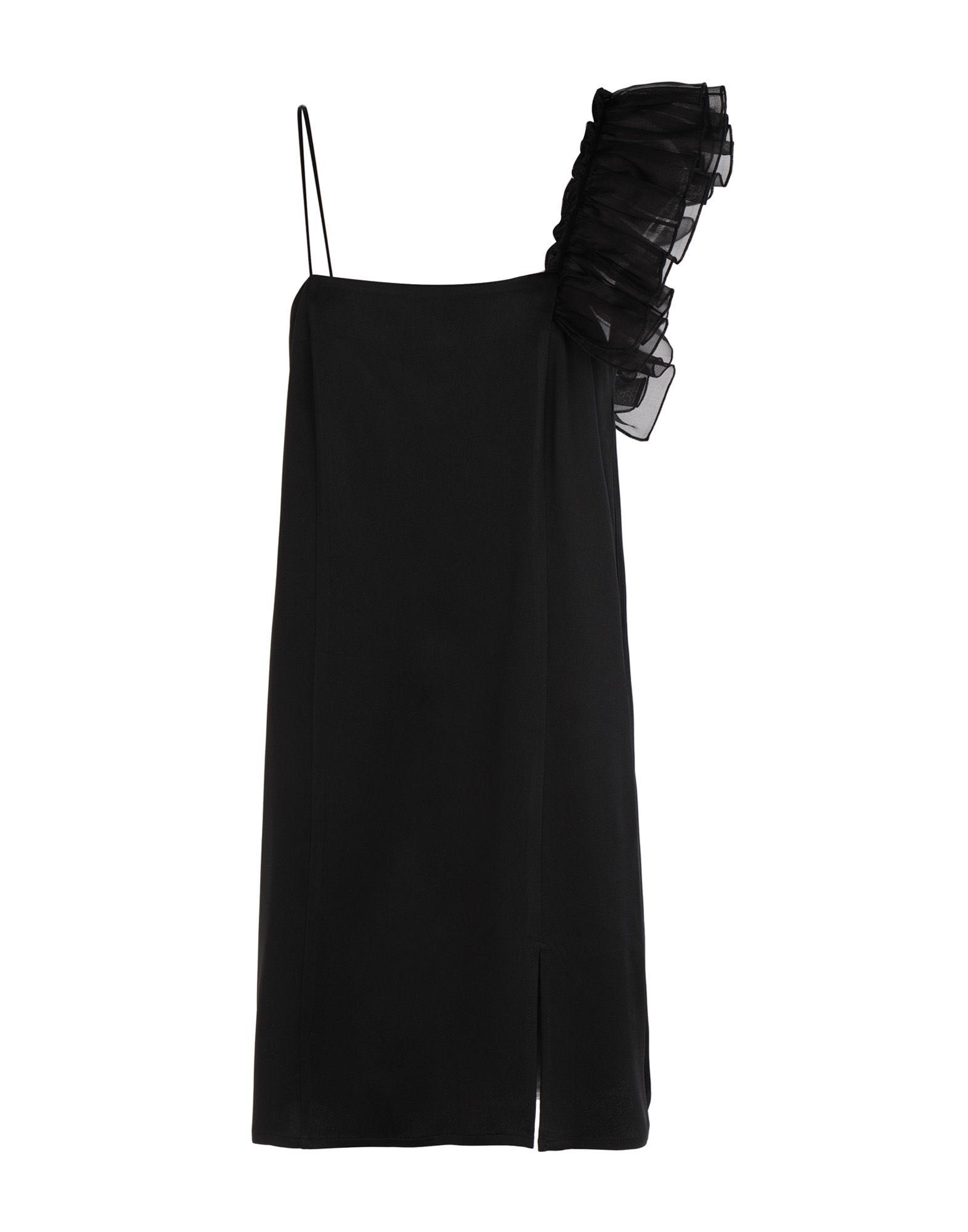 《期間限定セール開催中!》MARIANNA CIMINI レディース ミニワンピース&ドレス ブラック 40 アセテート 58% / レーヨン 42%