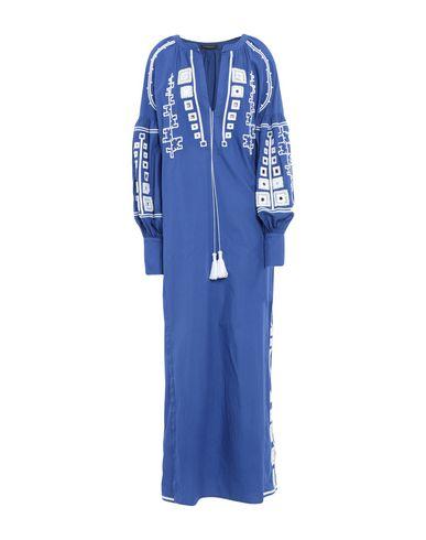 Купить Женское длинное платье  ярко-синего цвета