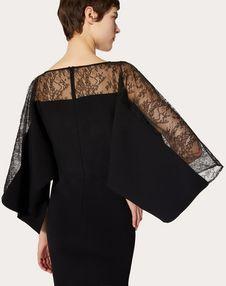 STRETCH VISCOSE AND LACE DRESS