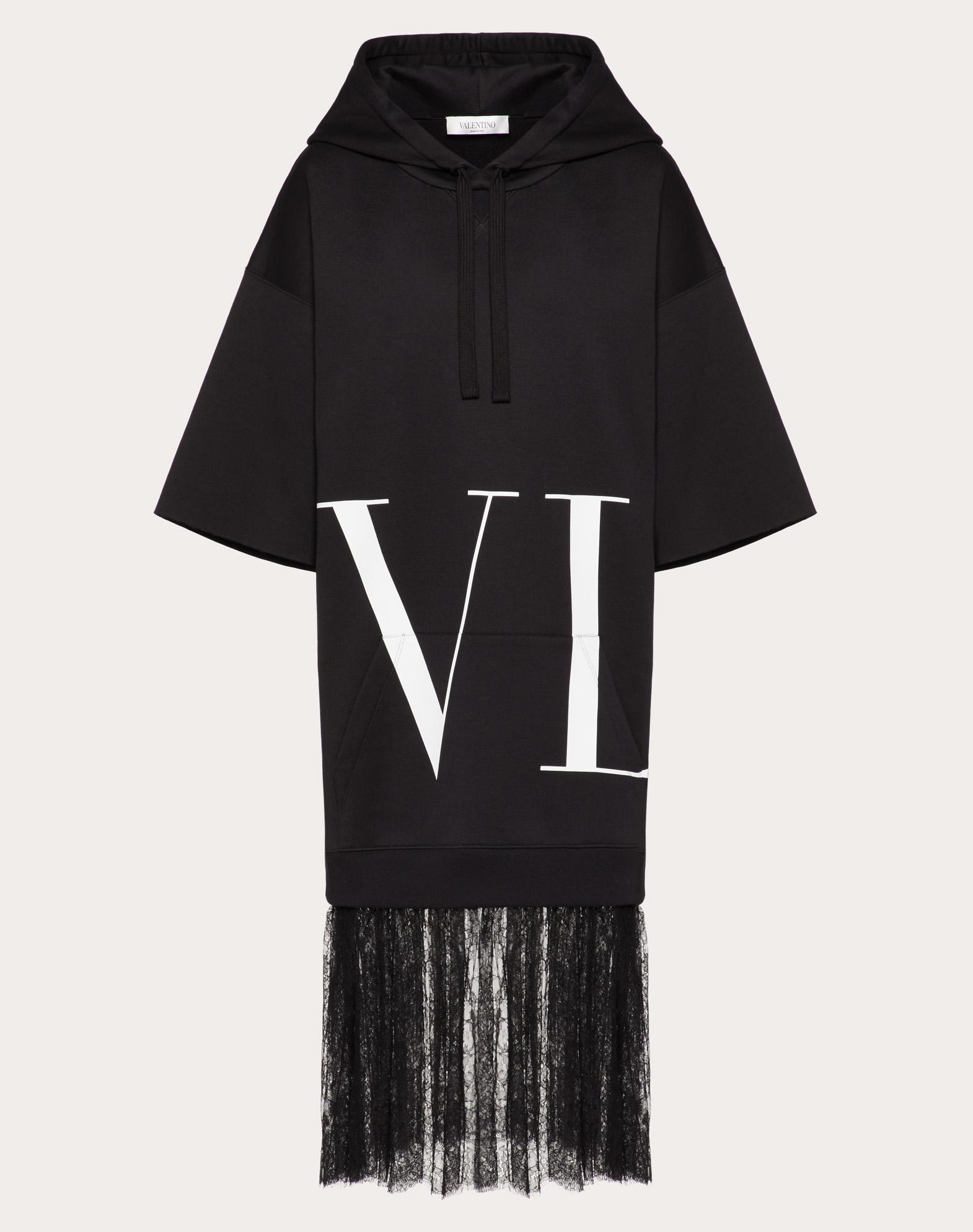 MACRO VLTN DETAIL AND CHANTILLY SWEATSHIRT DRESS