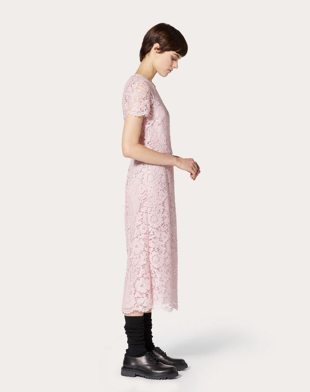 HEAVY LACE SHEATH DRESS