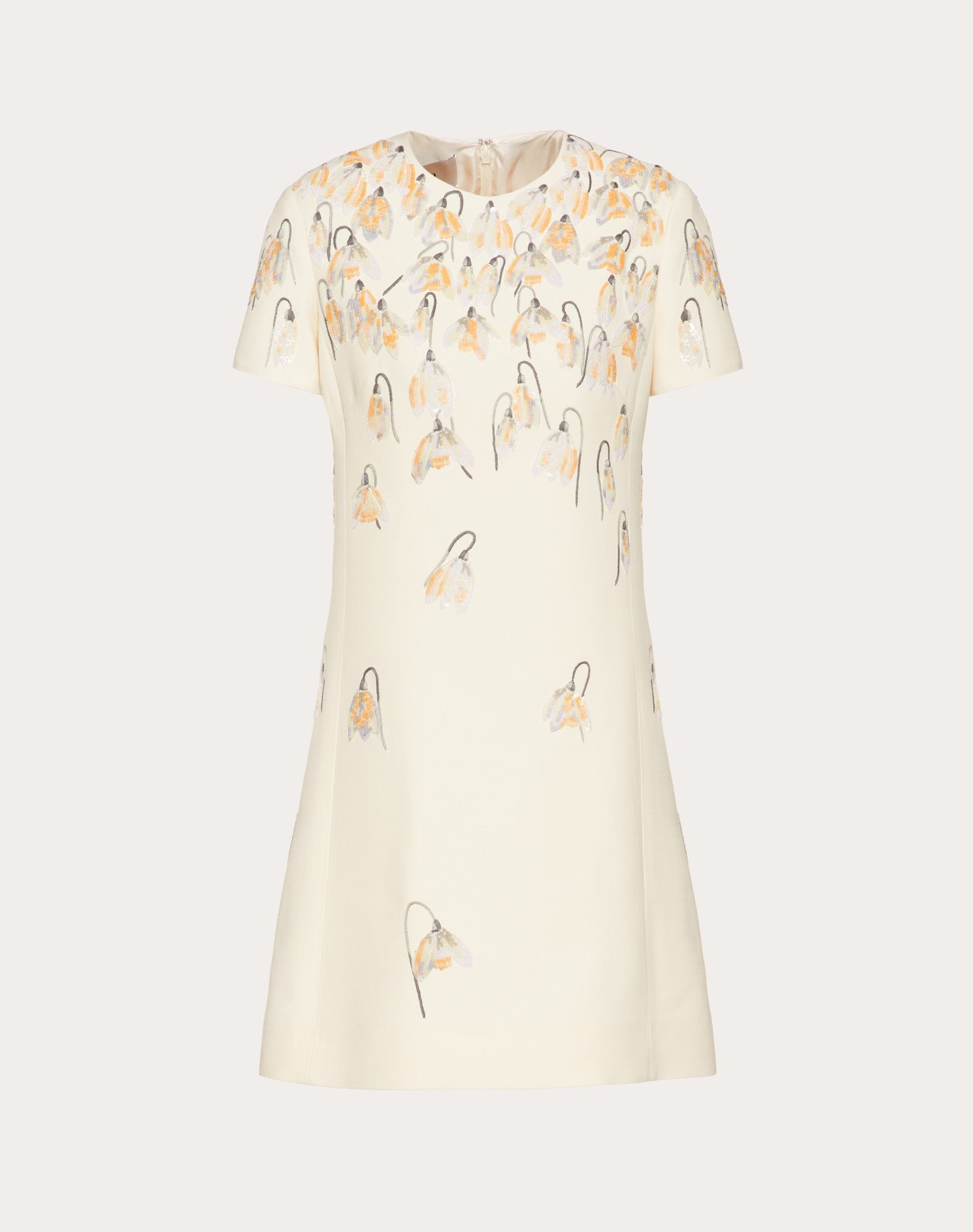 Embroidered Crêpe Couture Dress