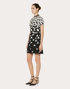 Crêpe Couture Snowdrop Dress with Embroidered Collar