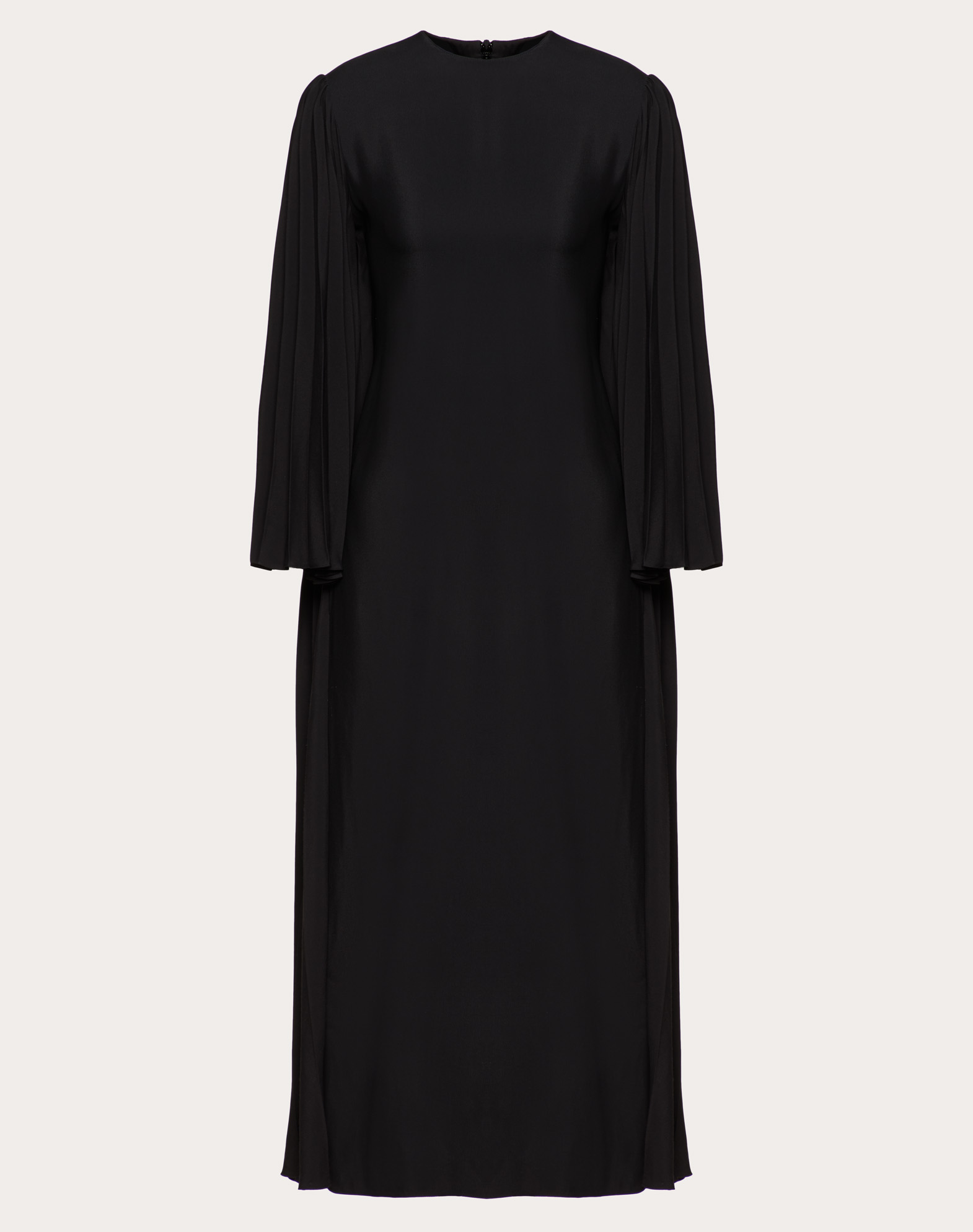 DOUBLE-FACED VISCOSE PLEATED DRESS