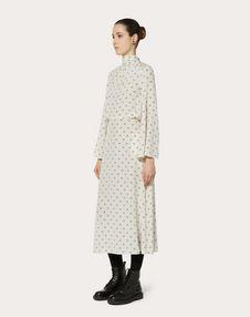 MINI VLOGO CREPE DE CHINE DRESS