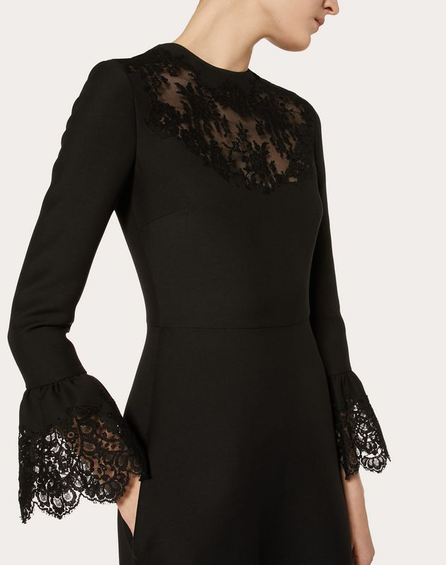 CREPE COUTURE AND LACE DRESS