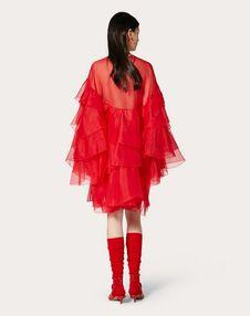 ORGANZA DRESS WITH RUFFLES