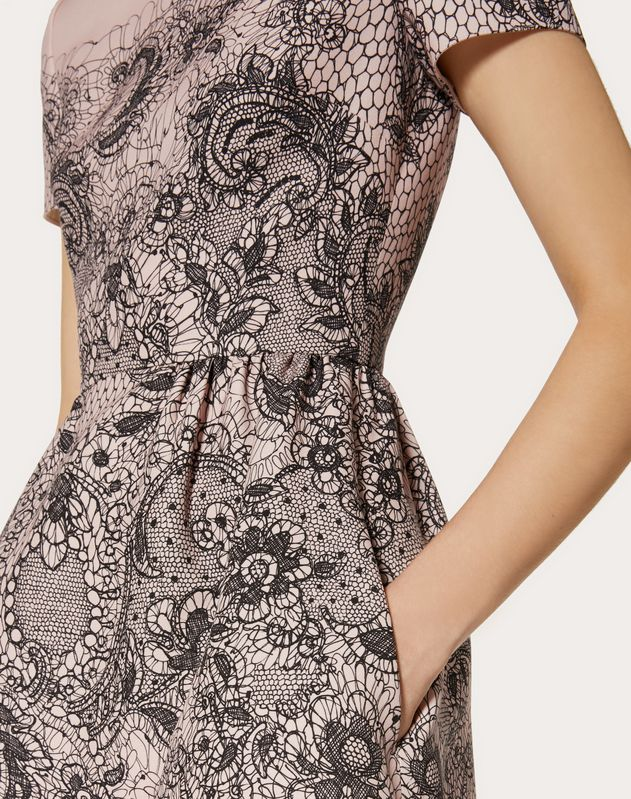 ABITO IN CREPE COUTURE LACE PRINT
