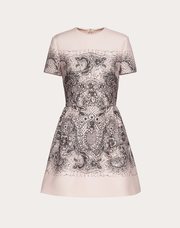 34f36516baa8 In boutique; LACE PRINT CREPE COUTURE DRESS ...