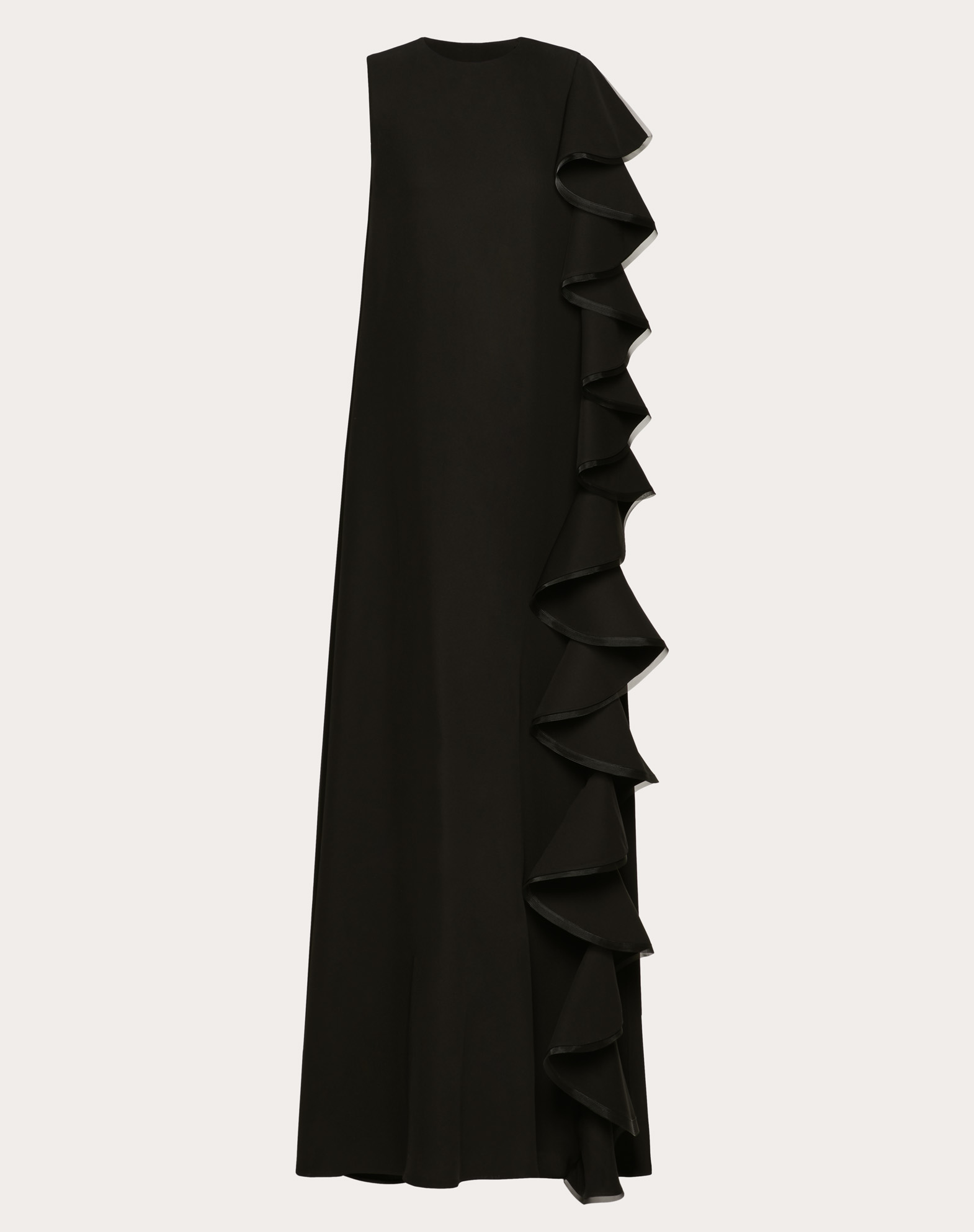 CADY COUTURE EVENING DRESS WITH RUFFLES