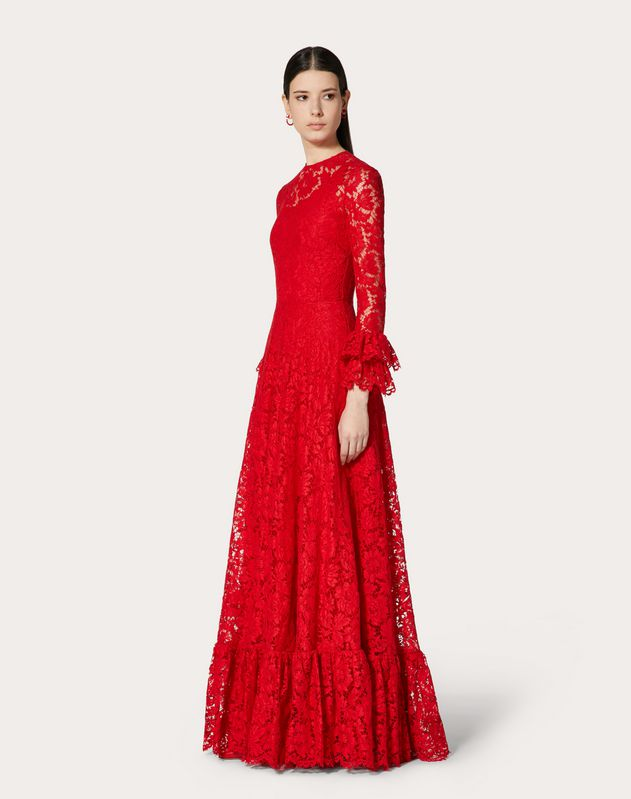 HEAVY LACE EVENING DRESS