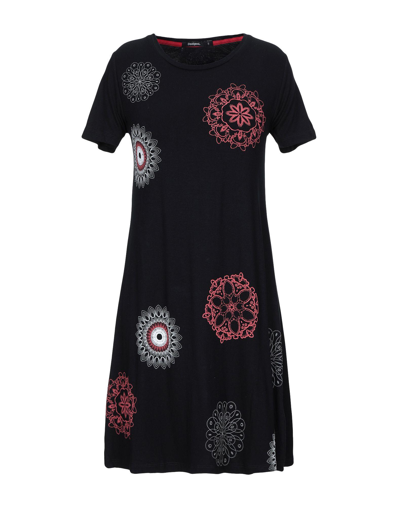 DESIGUAL Damen Kurzes Kleid Farbe Schwarz Größe 6