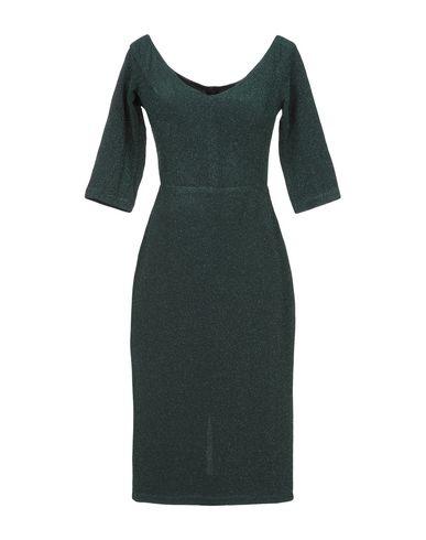 Купить Платье до колена темно-зеленого цвета