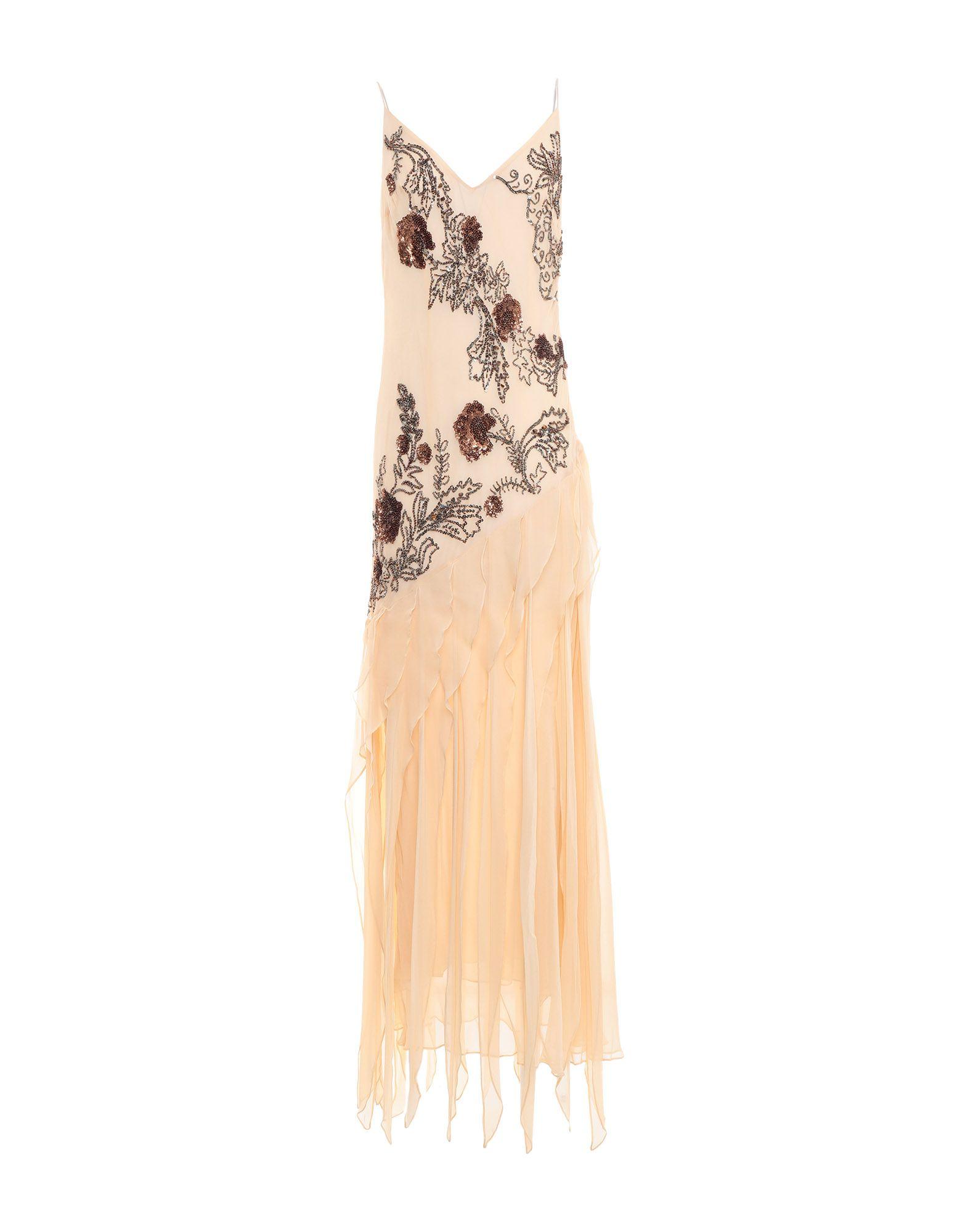 GAI MATTIOLO Длинное платье жакет с меховой отделкой gai mattiolo